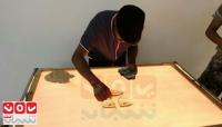 """""""يعقوب هبشان"""".. فنان ورسام تشكيلي يصعد في موهبته في زمن الحرب (تقرير خاص)"""