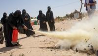 منظمة الهجرة تدرب 200 نازح بمأرب على إخماد الحرائق وحماية مآويهم